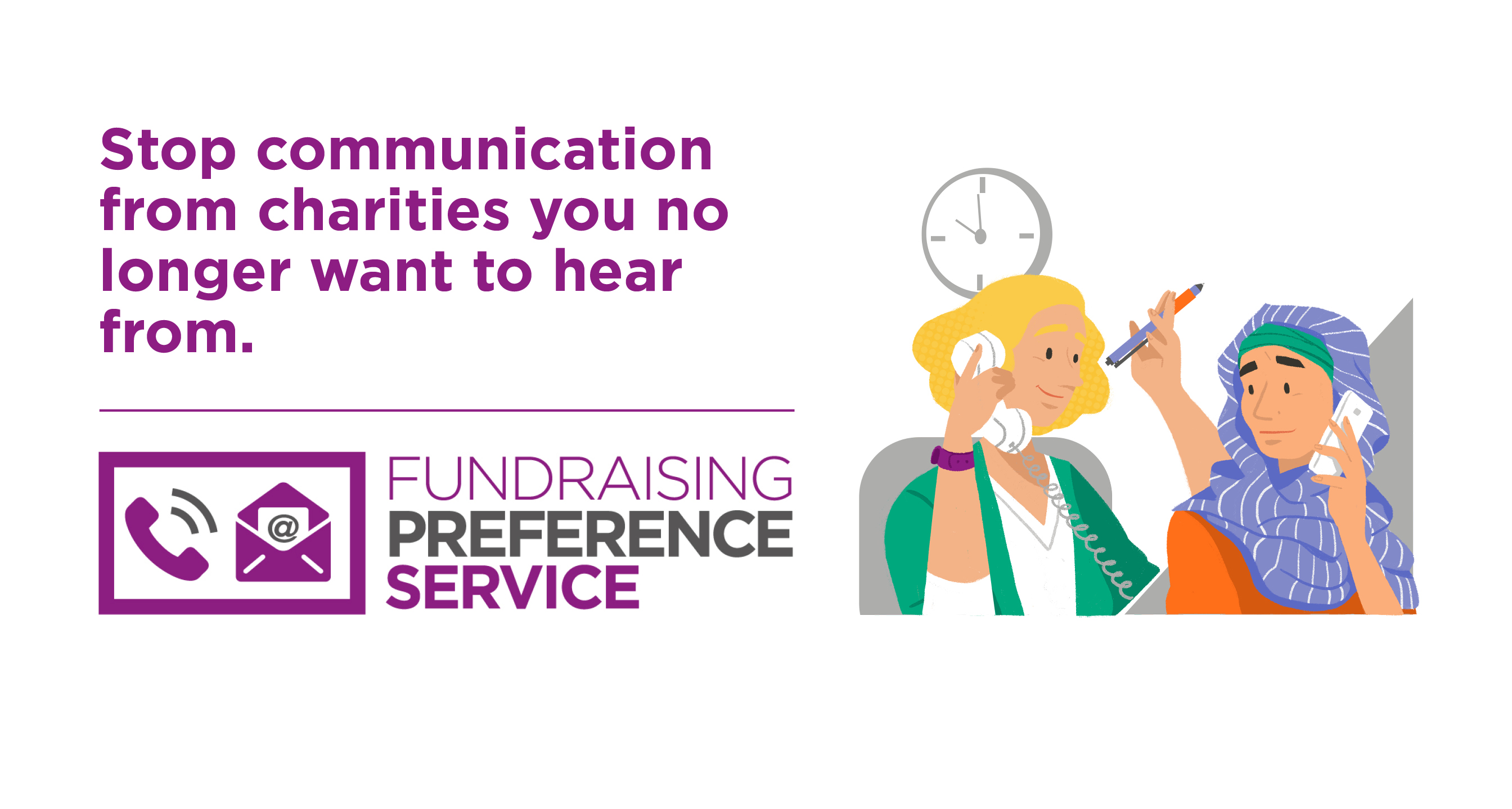 Stop communications from charities you no longer want to hear from